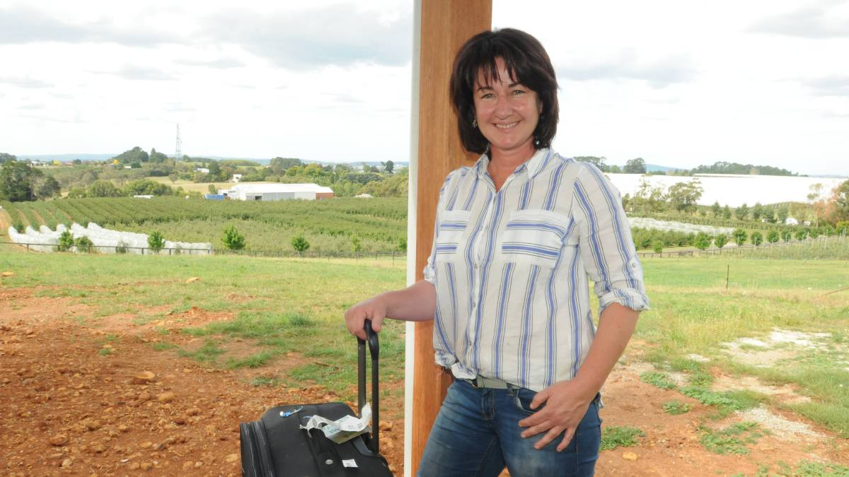 Fiona Hall packing her bags